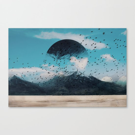 The crows start singing Canvas Print