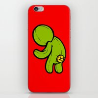 butt iPhone & iPod Skins featuring Butt-On by Artistic Dyslexia