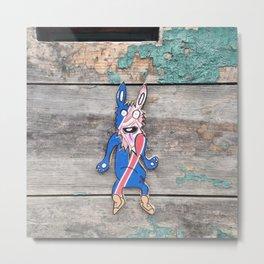 Crazy Bunny paste in Pau in France Metal Print