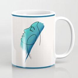 minimal blue Coffee Mug