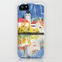 Church of the Assumption in Lake Bled Slovenia iPhone Case
