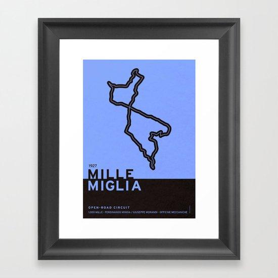 Legendary Races - 1927 Mille Miglia Framed Art Print