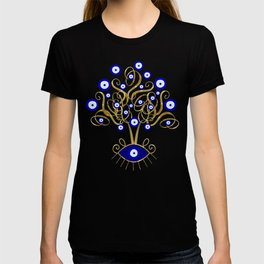 All Seeing Evil Eye Tree T-shirt