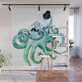 Dapper Octopus Wall Mural