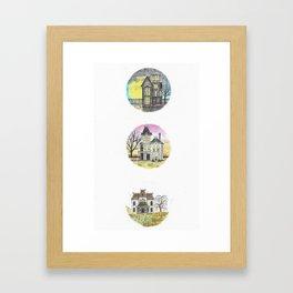 Miniature Haunted House Series Framed Art Print