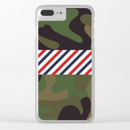 Barber Camo Pattern Clear iPhone Case