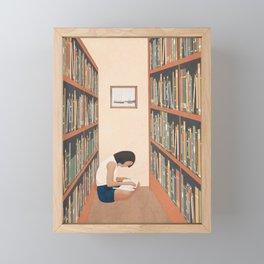 Getting Lost in a Book Framed Mini Art Print