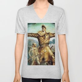 John Brown & Abolition's Destruction of Slavery and the Putrid Confederacy by John Steuart Curry Unisex V-Neck