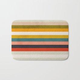 modern abstract stripe geometric Bath Mat