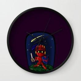 Nighttime with Chibi Knight Wall Clock