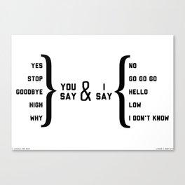 Hello, Goodbye diagram Canvas Print