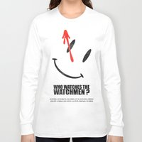 watchmen Long Sleeve T-shirts featuring The Watchmen (Super Minimalist series) by Itomi Bhaa