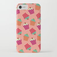 cupcakes iPhone & iPod Cases featuring Cupcakes  by Ingrid Castile