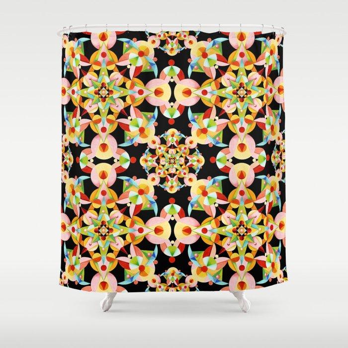 Kaleidoscope Fiesta Shower Curtain