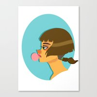 bubblegum Canvas Prints featuring Bubblegum  by Wvaja