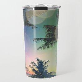 Summer Dreams : Pastel Palm Trees Travel Mug