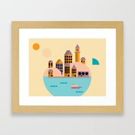 Yellow Cosmopolitan  Framed Art Print
