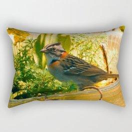 Bird Feeder Rectangular Pillow