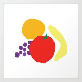 Digital still life—fruit Art Print