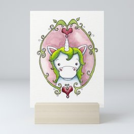 Garden Unicorn Mini Art Print