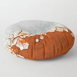 Rust and Grey Floor Pillow