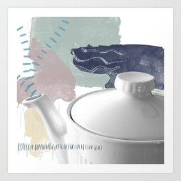teapot02 | multimedia collage Art Print
