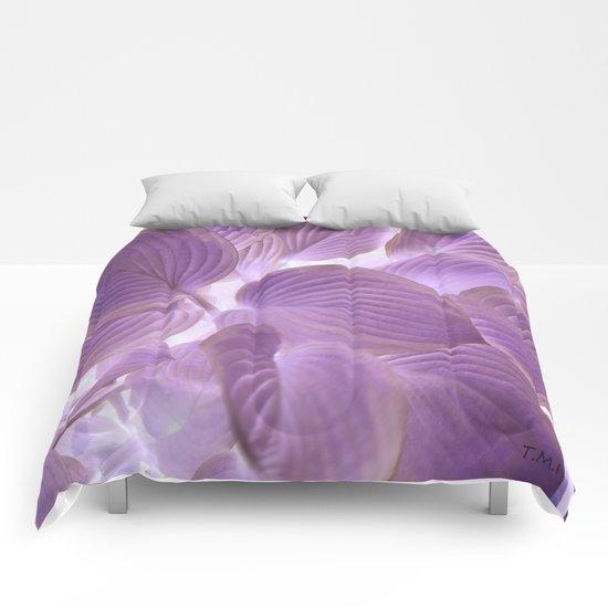 Flower | Flowers | Lavender Purple Glowing Hosta Comforters