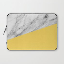 Marble and Primrose Yellow Color Laptop Sleeve