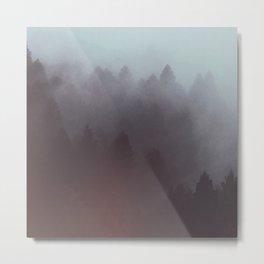 Watercolor Fog Metal Print