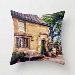 Lane to Midhope Cottage Throw Pillow