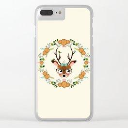 biche à la couronne Clear iPhone Case