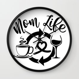 Mom Life Shirt T-Shirt Wall Clock