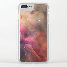 Orion Nebulae Clear iPhone Case