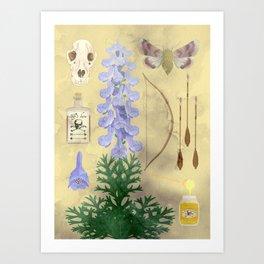 Aconitum / wolf's bane Art Print