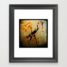 flame dancer Framed Art Print