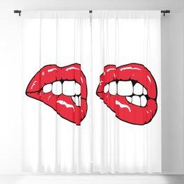 Red Lips Pop art Blackout Curtain