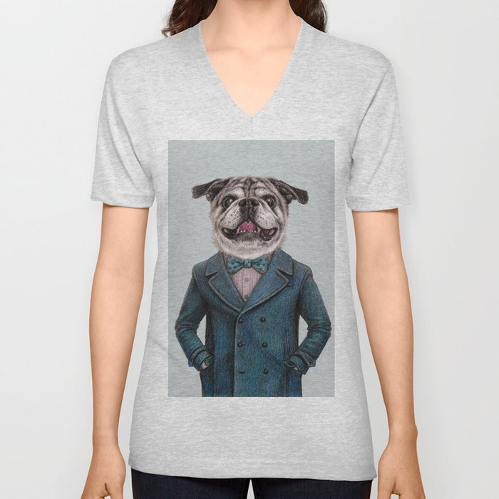 dog portrait Unisex V-Neck