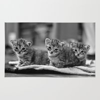 kittens Area & Throw Rugs featuring kittens by Grigoriy Pil