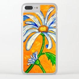Summer Daisy Clear iPhone Case