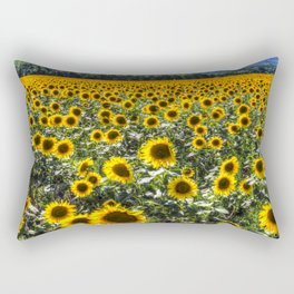 Sunflower Fields Of Summer Rectangular Pillow