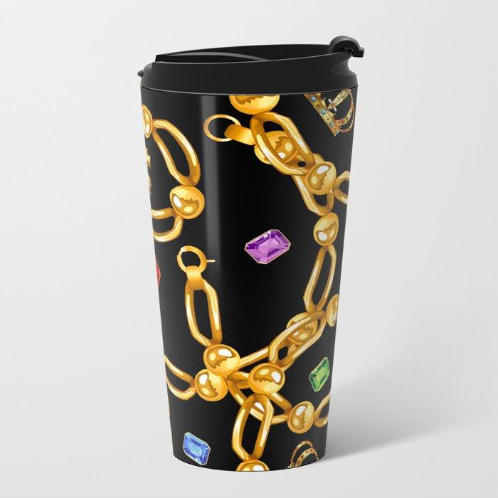 gold party 3 Metal Travel Mug