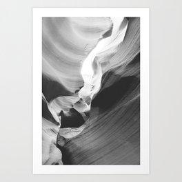 ANTELOPE CANYON VII (B+W) Art Print