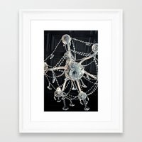 chandelier Framed Art Prints featuring Chandelier  by Daisy Flores