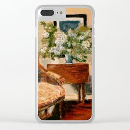 Interior with Large Bouquet Clear iPhone Case