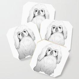 Cartoon Pekingese Dog Coaster