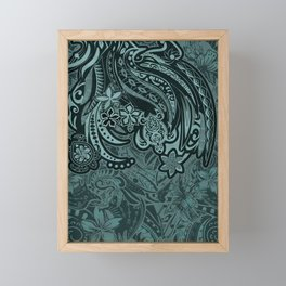 Hawaiian - Samoan - Polynesian Slate Tribal Threads Framed Mini Art Print