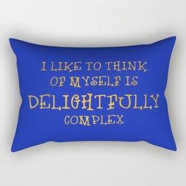 Delightfully complex Rectangular Pillow