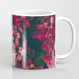 Christmas Hydrangea Red Floral Green Leaves Supple Flowers In The Garden Coffee Mug