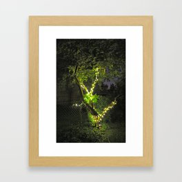 Lit Framed Art Print