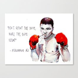 Fly like a butterfly - sting like a bee / ali greatest champion muhammad boxing watercolor passion Canvas Print
